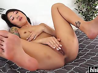 Lovely babes like to masturbate alone