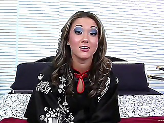 Tramp acquires a load of cum on her chest after hardcore sex