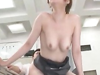 Japanese lustful males can't resist to fresh secretary