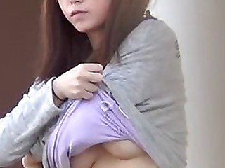 Breasty japanese honey changing garments on hidden camera