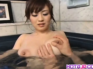 Nana Aoyama Japanese Tramp Gets Her Obese Titties Washed By A Friend