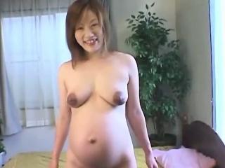 Pregnant asian milf naked plus showering