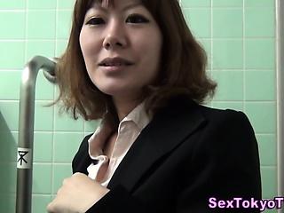 Asian hottie pov clit rub