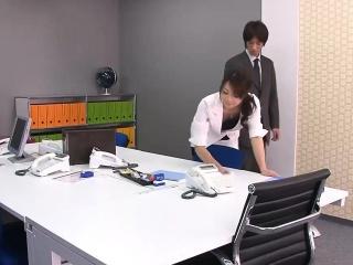 Subtitles - Beautiful Maki Hojo fucked hard in meeting