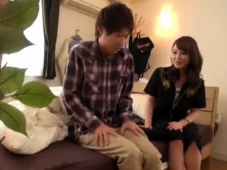 Hot Japanese MILF Shagging With Young Lover