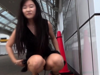 Asian pisses be worthwhile for voyeur in elevate d vomit