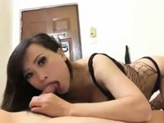 Chinese hooker sucking my load of shit 4