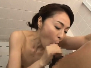 Asian Shower Leads Back One Horny Sloppy Blowjob