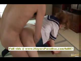 Akhio Yoshizawa Chinese schoolgirl gets a hard fucking